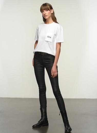 NGSTYLE Ngkss21Ts0041 Cep Detaylı Tshirt Beyaz